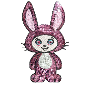 Patch sequin thermocollant Rita Rabbit